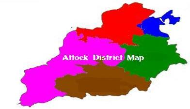 map of Attock District